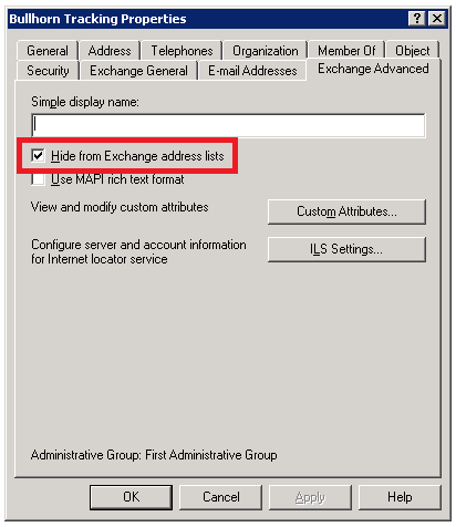 Exchange 2003 - Create Contact Dialog 3