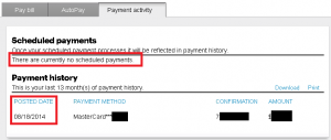 Sprint - No history of payment