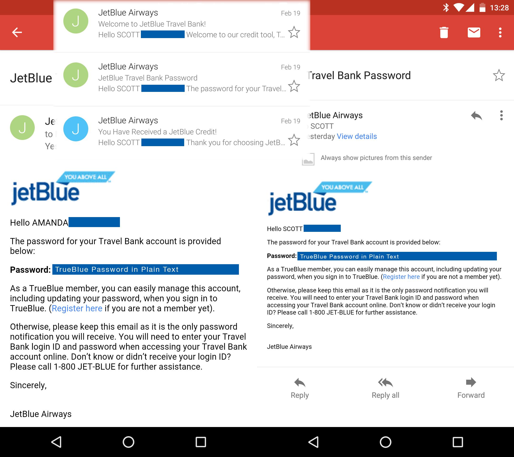 Jetblue Password Encryption Is For Suckers Scottdotdot